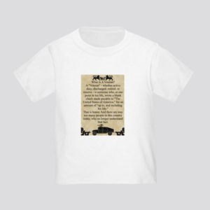 What is a Veteran Toddler T-Shirt
