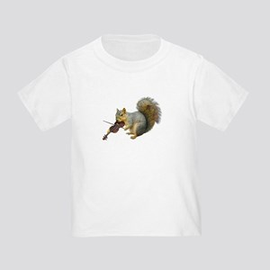 Squirrel Violin Toddler T-Shirt