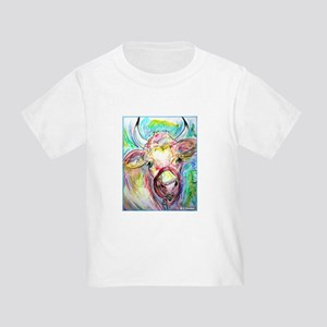 Cow, colorful, art, Toddler T-Shirt