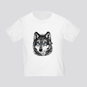 Painted Wolf Grayscale Toddler T-Shirt