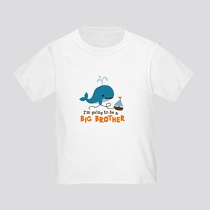 Big Brother to be - Mod Whale Toddler T-Shirt