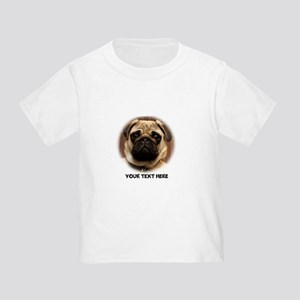 Custom Pug Dog Photo Toddler T-Shirt