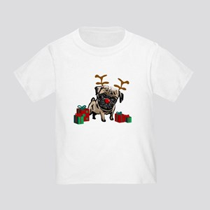 Pug Christmas Toddler T-Shirt