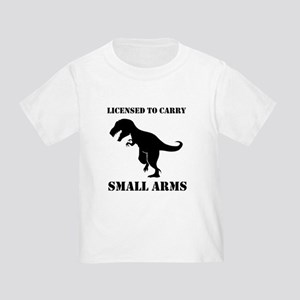 Licensed To Carry Small Arms T-rex Dinosaur T-Shir