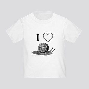 I HEART SNAILS Toddler T-Shirt