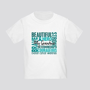 Tribute Square Ovarian Cancer Toddler T-Shirt