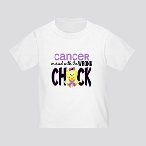 Cancer Messed With Wrong Chick Toddler T-Shirt