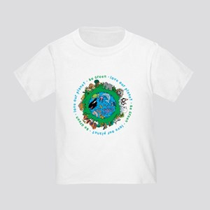 Be Green Love our planet Toddler T-Shirt
