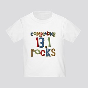 Completing 13.1 Rocks Marathon Toddler T-Sh