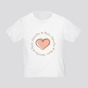 Mom's Favorite Girl Heart Toddler T-Shirt