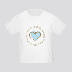 Mom's Favorite Boy Heart Toddler T-Shirt