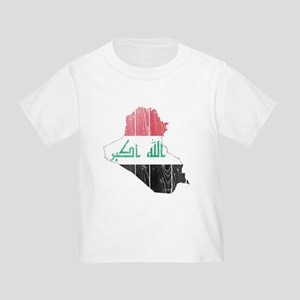 Iraq Flag And Map Toddler T-Shirt
