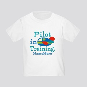 Personalized Pilot in Training Toddler T-Shirt