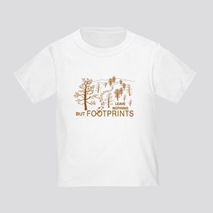 Leave Nothing but Footprints Brown Toddler T-Shirt