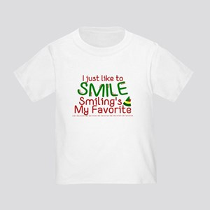 I Smile Elf Movie Quote T-Shirt
