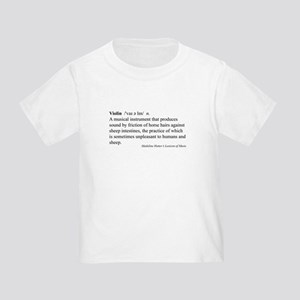 Humorous Violin Definition Toddler T-Shirt