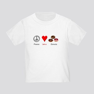 Peace Love Donuts Toddler T-Shirt