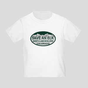 Save an Elk Colo License Plate Toddler T-Shirt