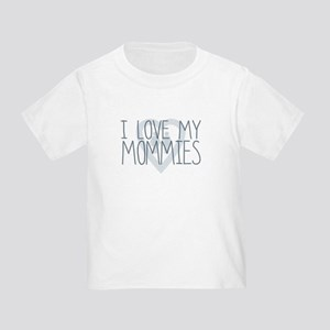 I LOVE MY MOMMIES, Color Blue T-Shirt