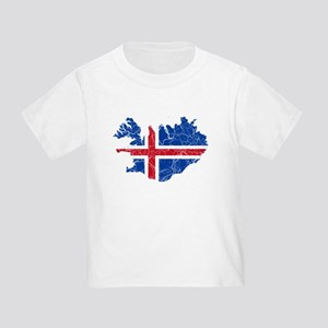Iceland Flag And Map Toddler T-Shirt