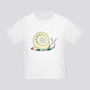 Colorful Cute Snail Toddler T-Shirt
