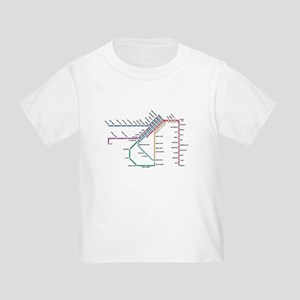SF MUNI Map Toddler T-Shirt