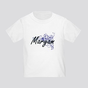 Maryam Artistic Name Design with Flowers T-Shirt
