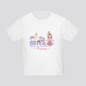 Unicorn Princess Big Sister Toddler T-Shirt