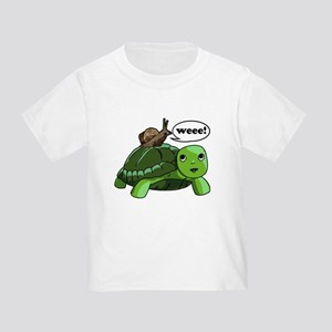 Snail Riding Turtle Toddler T-Shirt