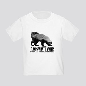 Honey Badger Speaks Toddler T-Shirt