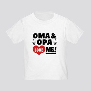 Oma and Opa Love Me Toddler T-Shirt