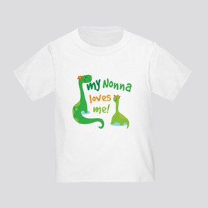 My Nonna Loves Me Dinosaur Toddler T-Shirt