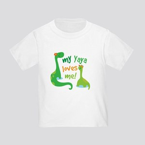 My Yaya Loves Me Dinosaur Toddler T-Shirt