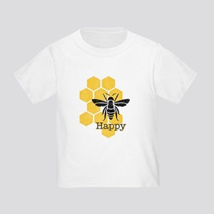 Honeycomb Bee Happy Toddler T-Shirt