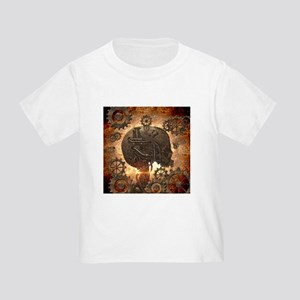 Awesome steampunk Skull with gears T-Shirt