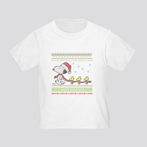 Snoopy Ugly Christmas Toddler T-Shirt