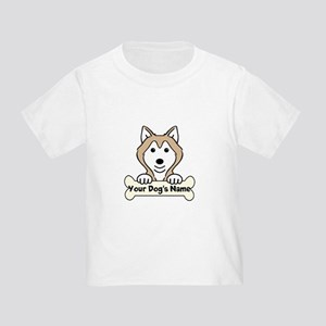 Personalized Alaskan Malamute Toddler T-Shirt