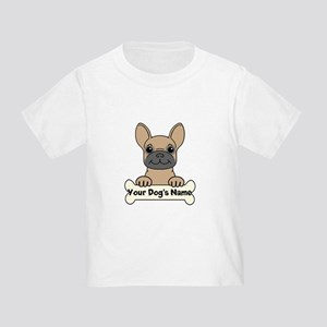 Personalized French Bulldog Toddler T-Shirt