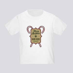 Merry Christmas Personalized Toddler T-Shirt