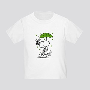 Snoopy Raining Clovers Toddler T-Shirt