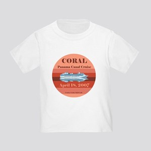 Coral Panama Canal 2007 Toddler T-Shirt