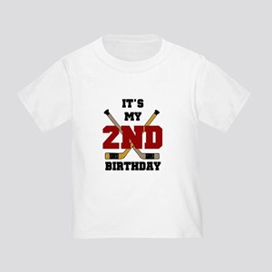 Hockey 2nd Birthday Toddler T-Shirt