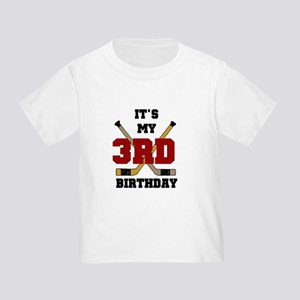 Hockey 3rd Birthday Toddler T-Shirt