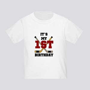 Hockey 1st Birthday Toddler T-Shirt
