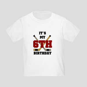 Hockey 6th Birthday Toddler T-Shirt