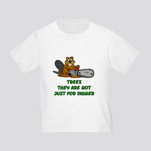Chain Saw Beaver Toddler T-Shirt