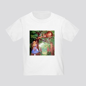 ALICE & THE CHESHIRE CAT Toddler T-Shirt