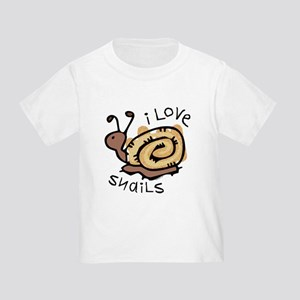 I Love Snails Toddler T-Shirt