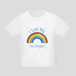 I Love my Two Grandpas Toddler T-Shirt