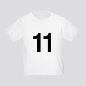 Number 11 Helvetica Toddler T-Shirt